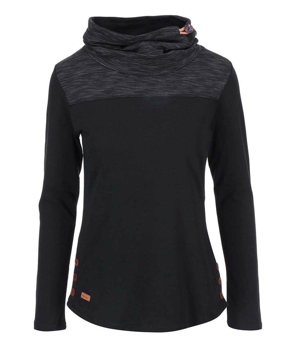 Černé dámské tričko s dlouhým rukávem Ragwear Willow