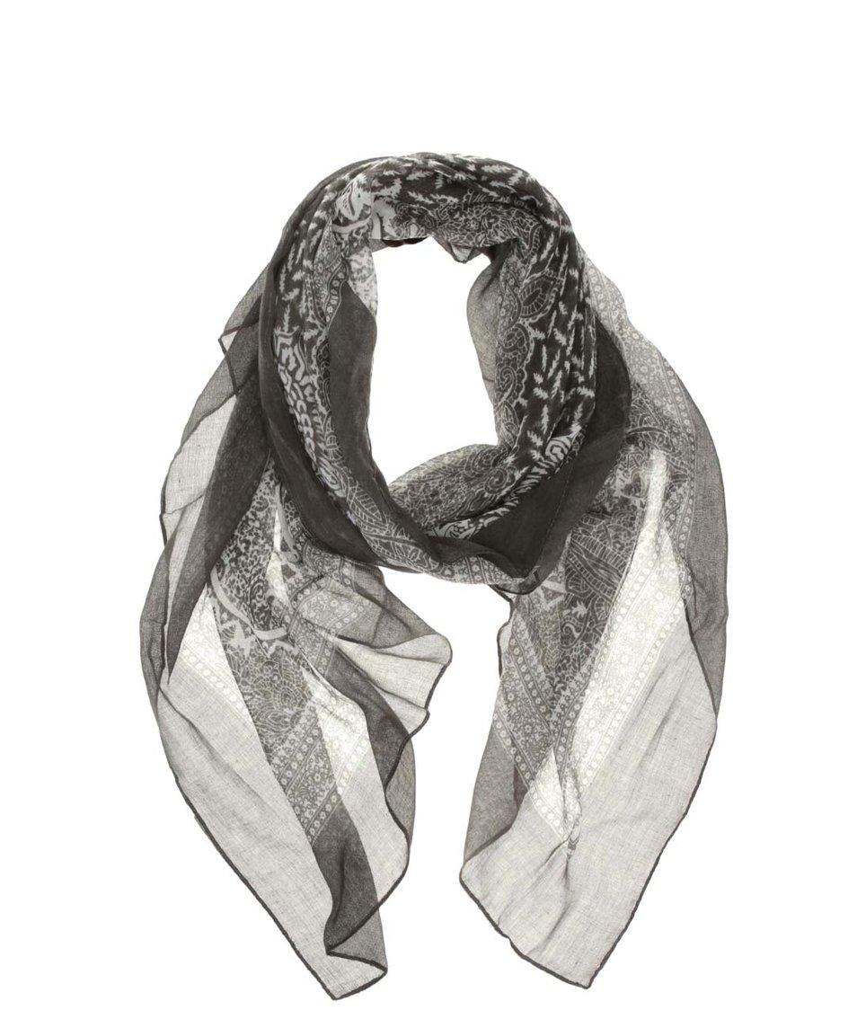Khaki vzorovaný šátek INVUU London