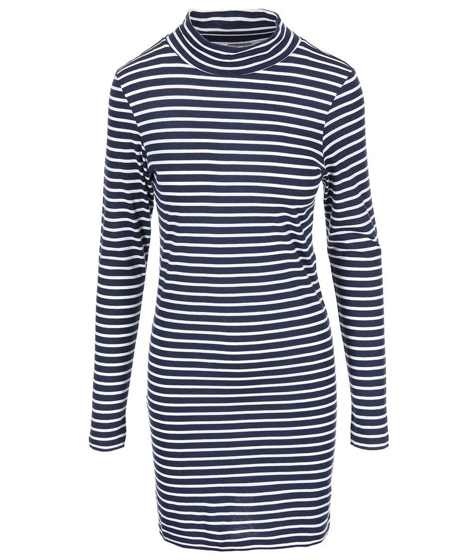 Bílo-modré pruhované šaty Vero Moda Hyben
