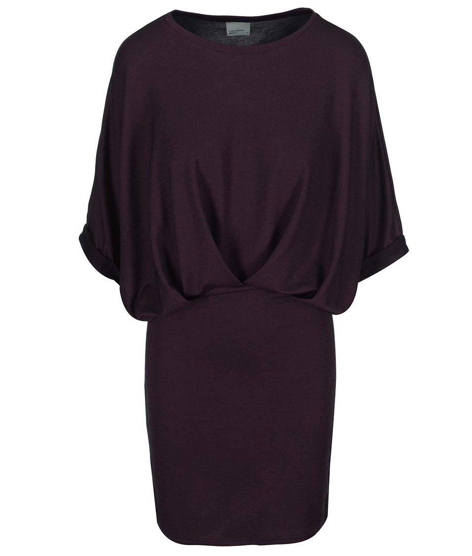 Vínové šaty Vero Moda Twilli