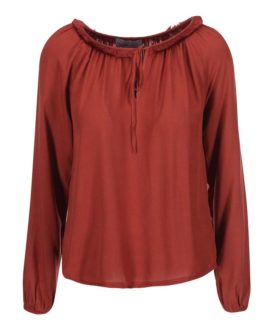 Červená halenka Vero Moda Louise