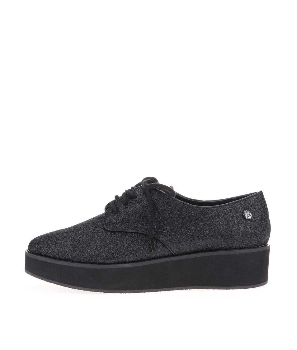 Černé flitrované boty s vyšší podrážkou Blink