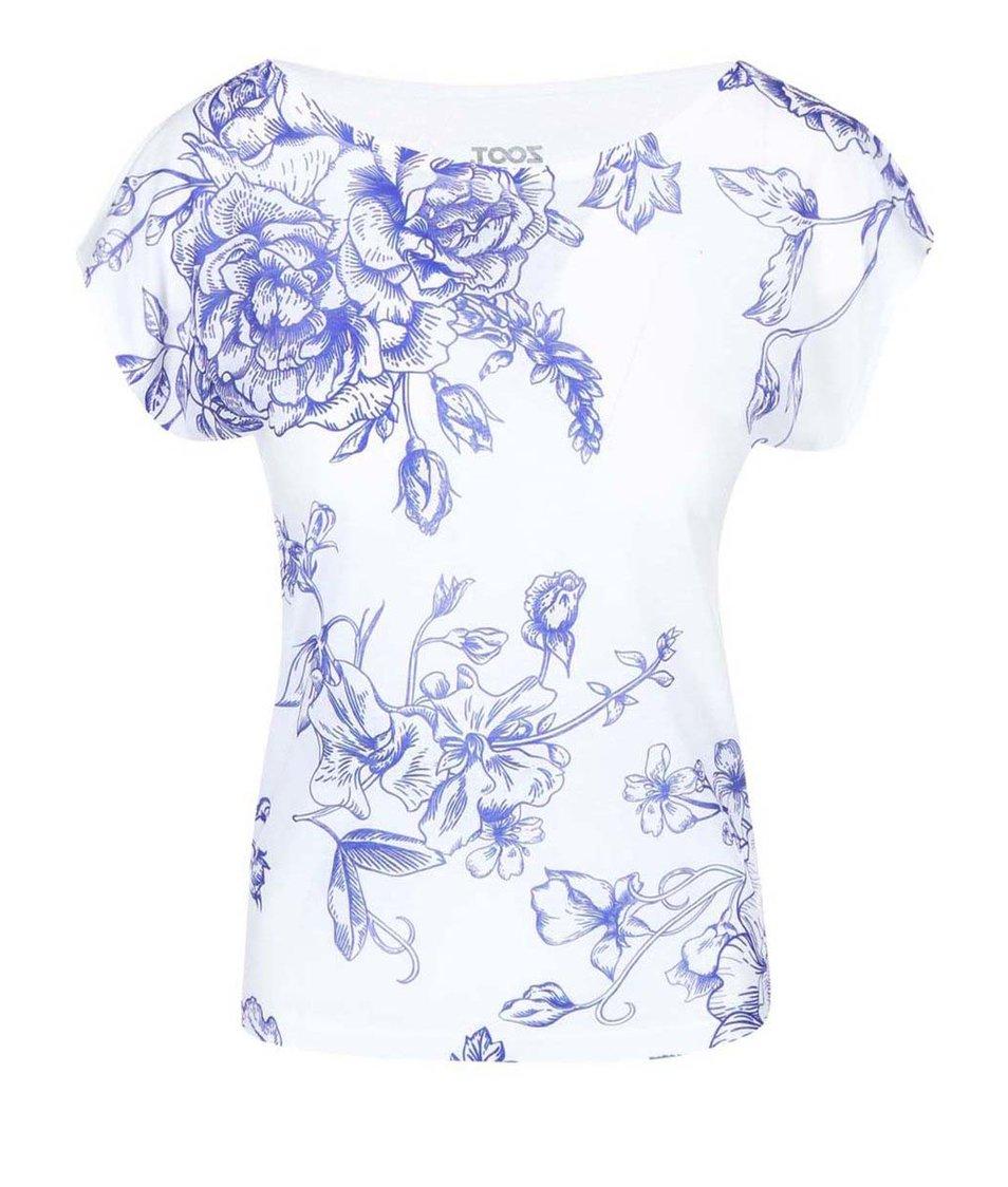 Modro-bílé dámské tričko se vzorem ZOOT Originál Porcelán