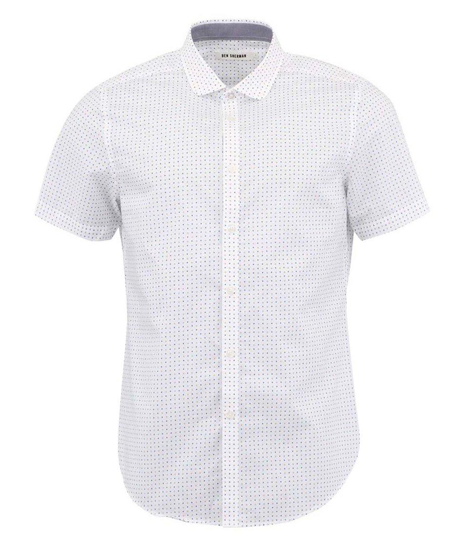 Bílá košile s krátkými rukávy a potiskem Ben Sherman