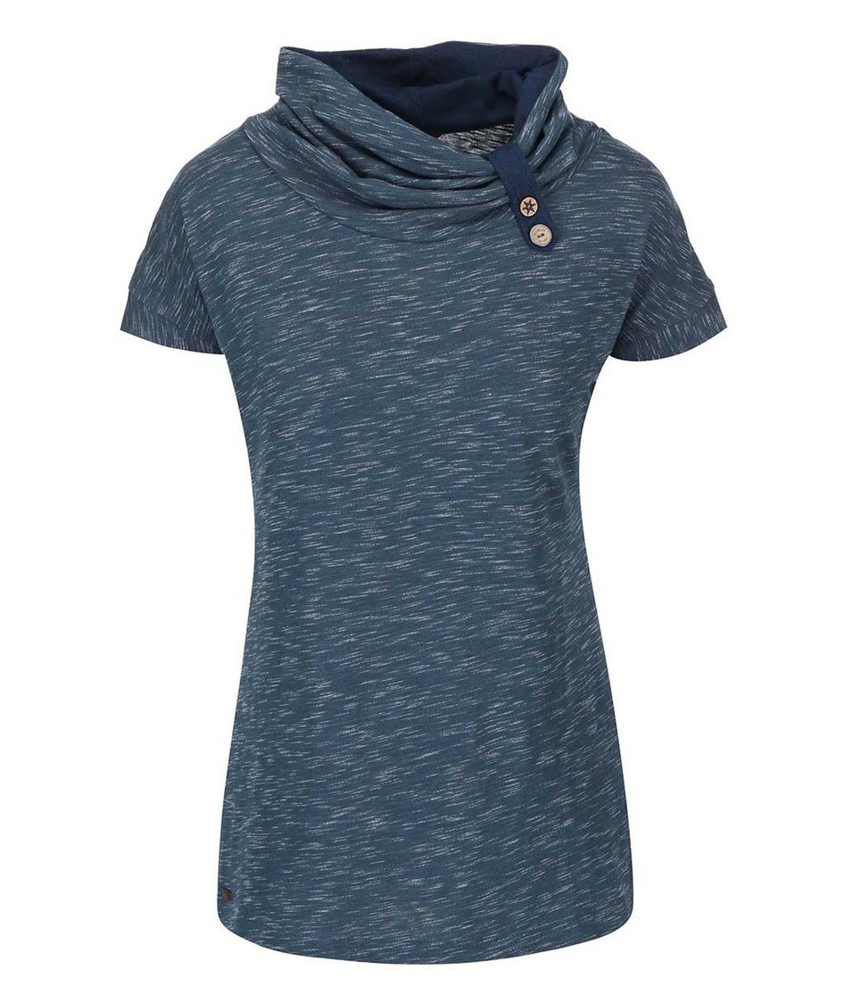 Šedomodré dámské tričko s límcem Ragwear Highway