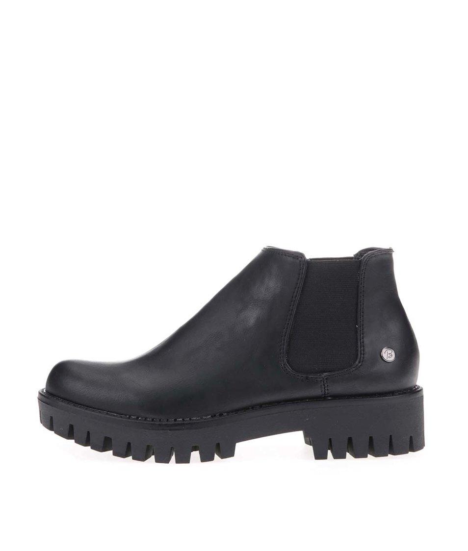 Černé kotníkové boty na vyšší podrážce Blink