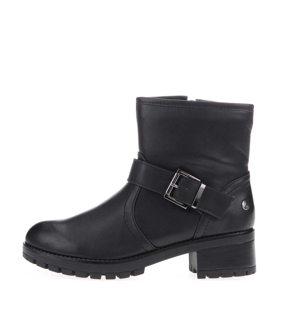 Černé kotníkové boty s přezkou Blink