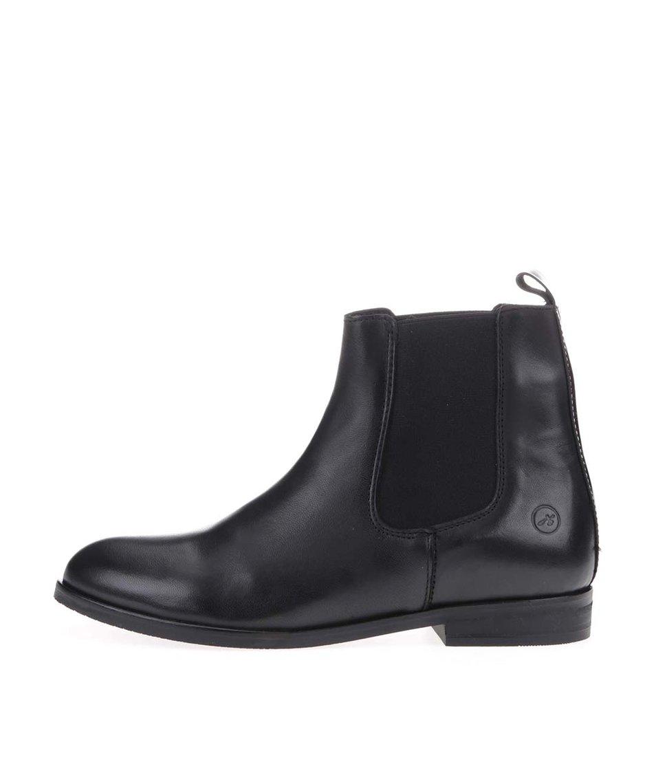 """Černé kožené """"chelsea"""" boty Bronx"""