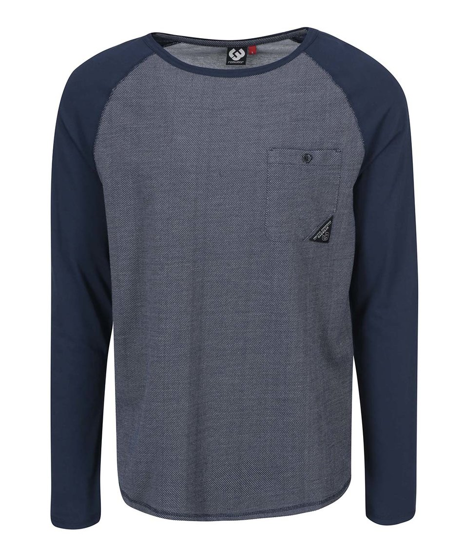 Modré pánské triko s kapsou Ragwear Noah