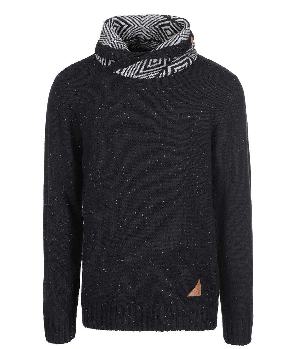 Černý pánský svetr s límcem Ragwear Vigo