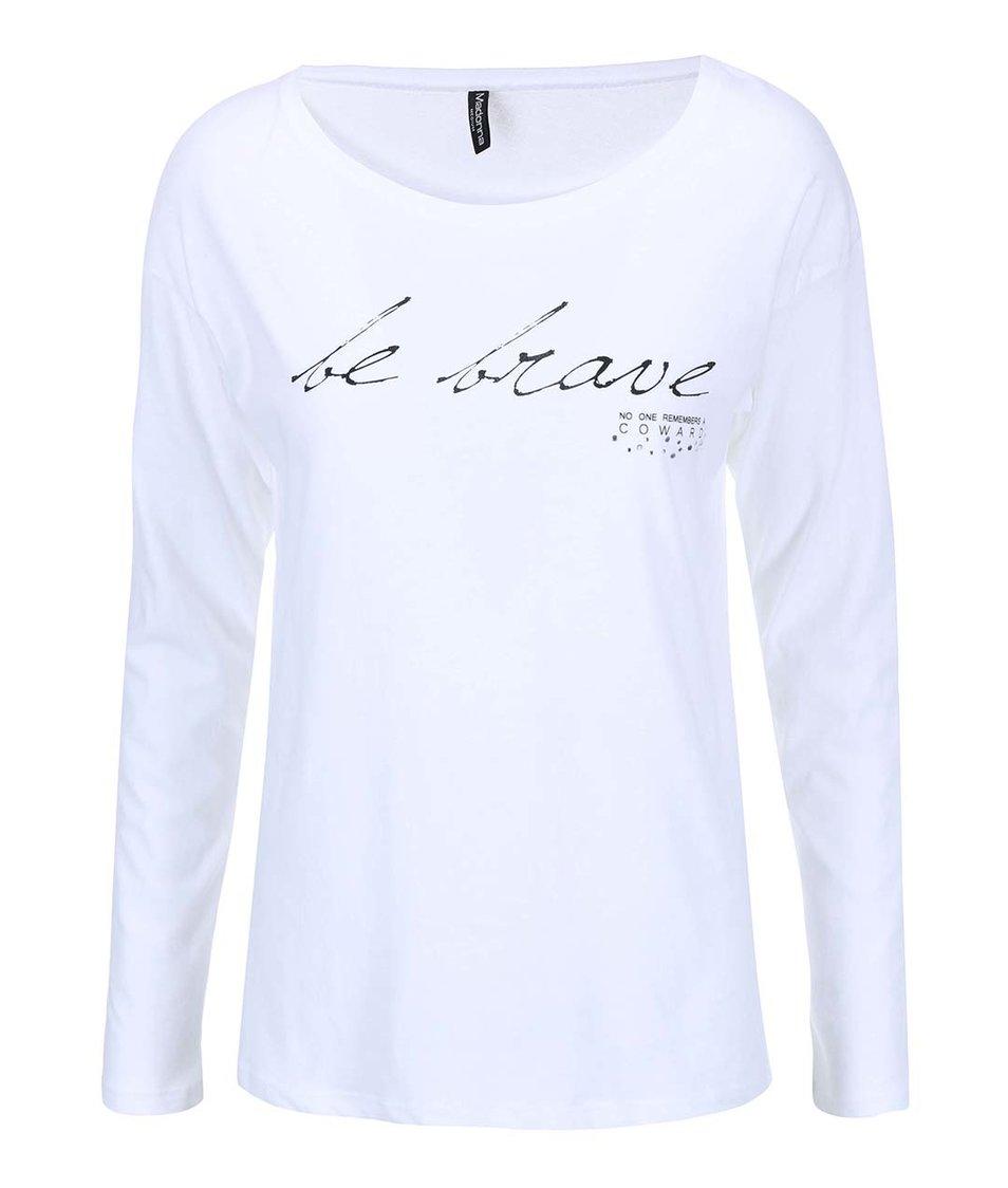 Bílé tričko s potiskem Madonna Gowri