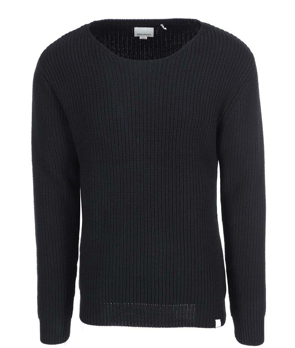 Černý svetr s žebrováním Shine Original