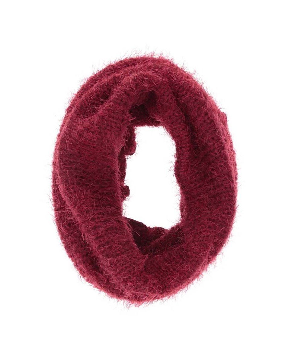 Červená dutá šála INVUU London 06b400886d