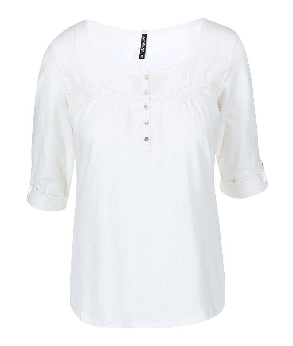 Bílé tričko s 3/4 rukávy Haily´s Molly