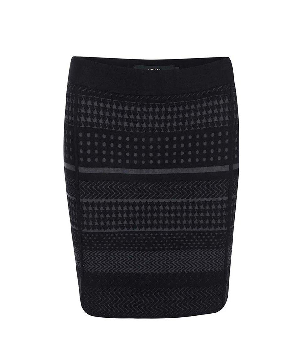 Černá vzorovaná sukně ICHI Minali