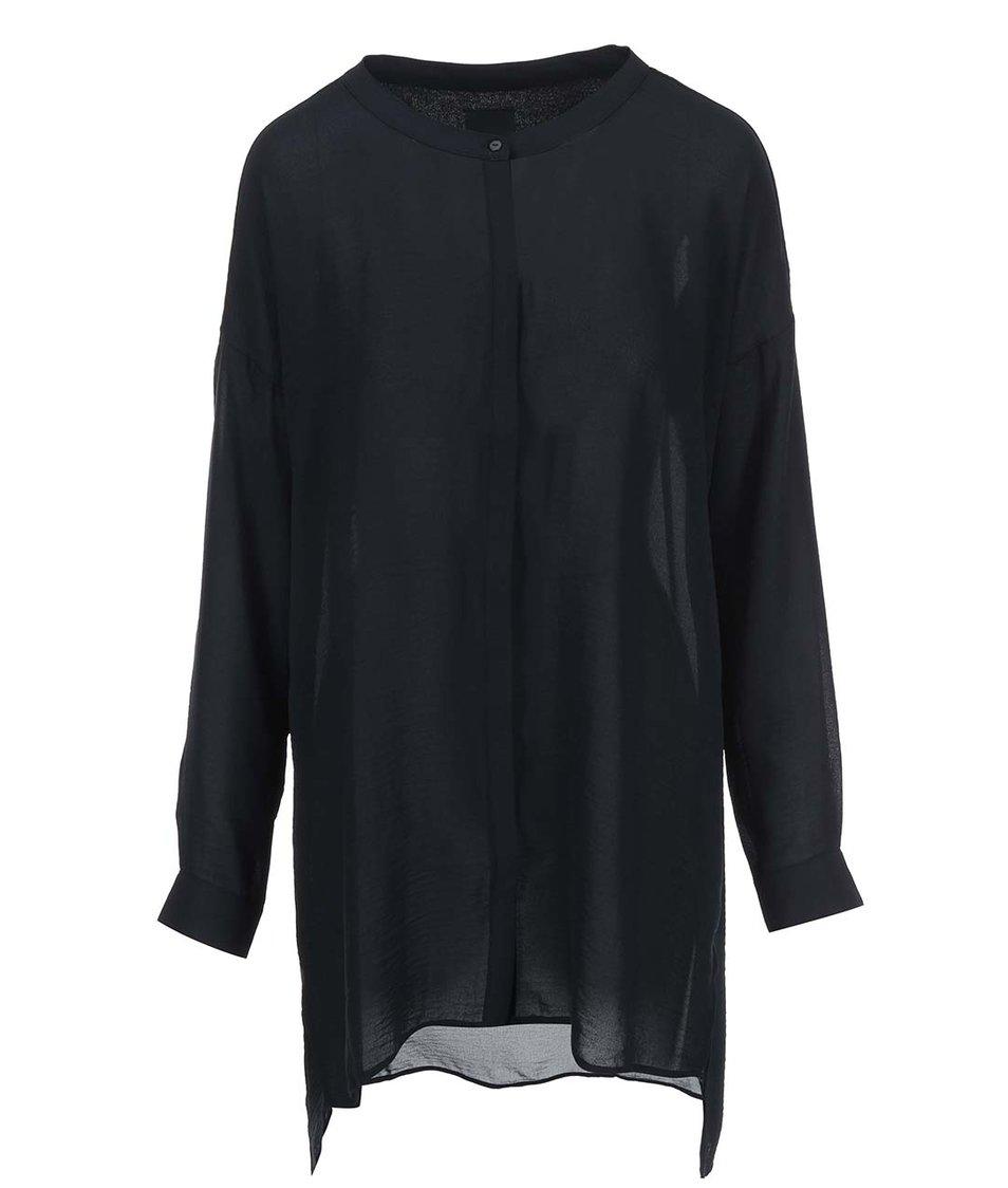 Černá volnější košile ICHI Cruise