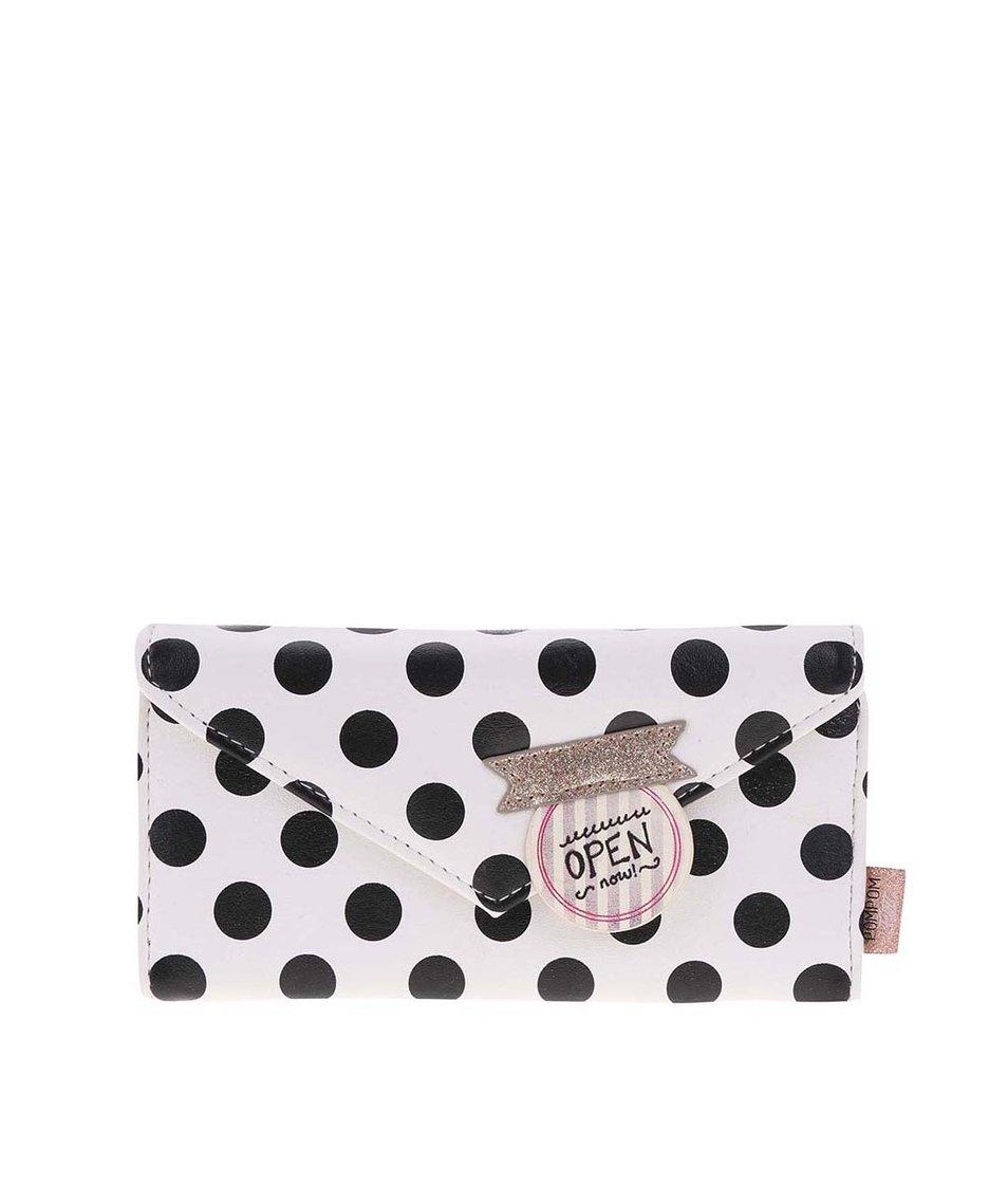 Bílá peněženka s černými puntíky Disaster Pompom Tutti