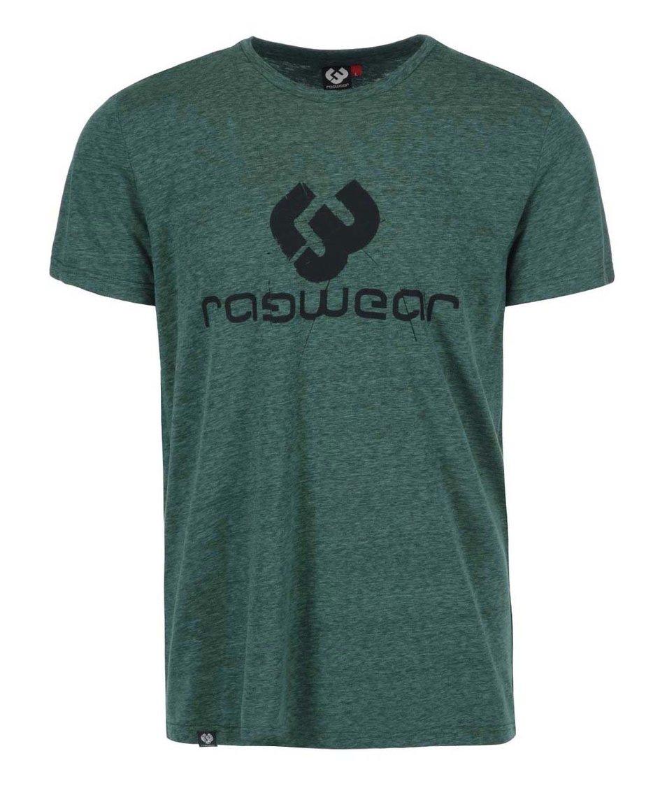 Zelené žíhané pánské triko s potiskem Ragwear Mother