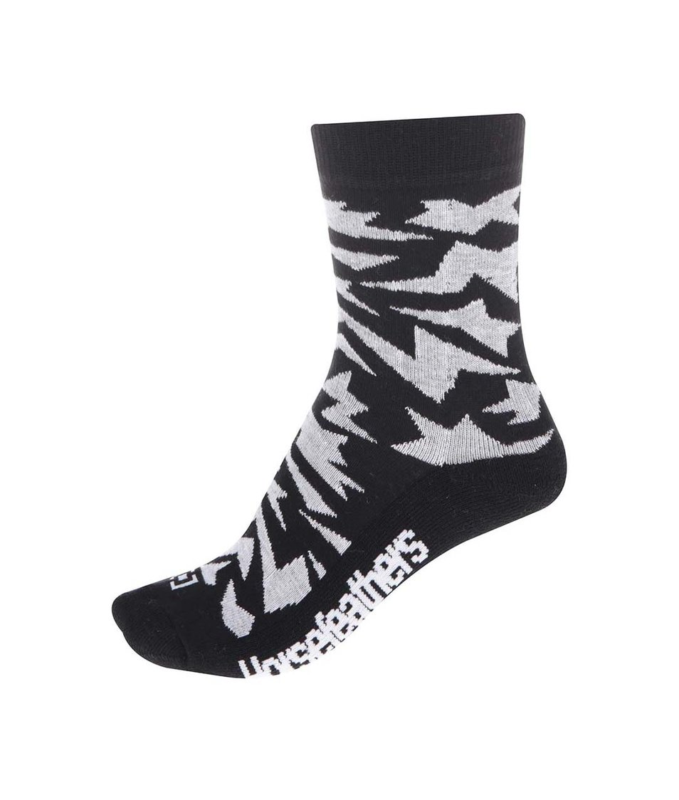 Bílo-černé dámské ponožky Horsefeathers Versus
