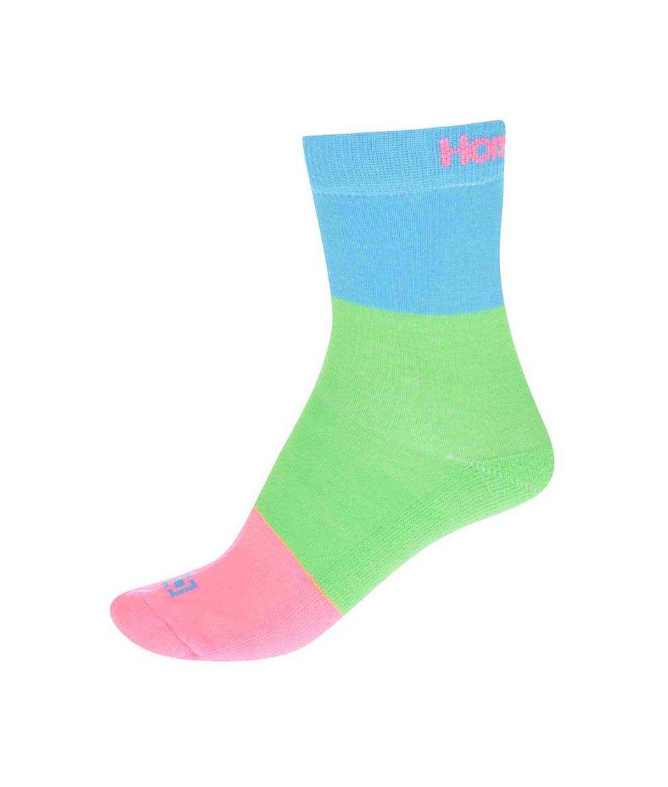 Růžovo-zeleno-modré dámské ponožky Horsefeathers Split