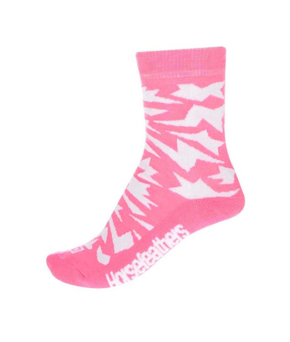 Bílo-růžové dámské ponožky Horsefeathers Versus