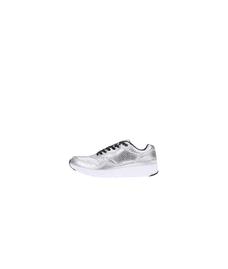 Tenisky ve stříbrné barvě s hadím vzorem Blink