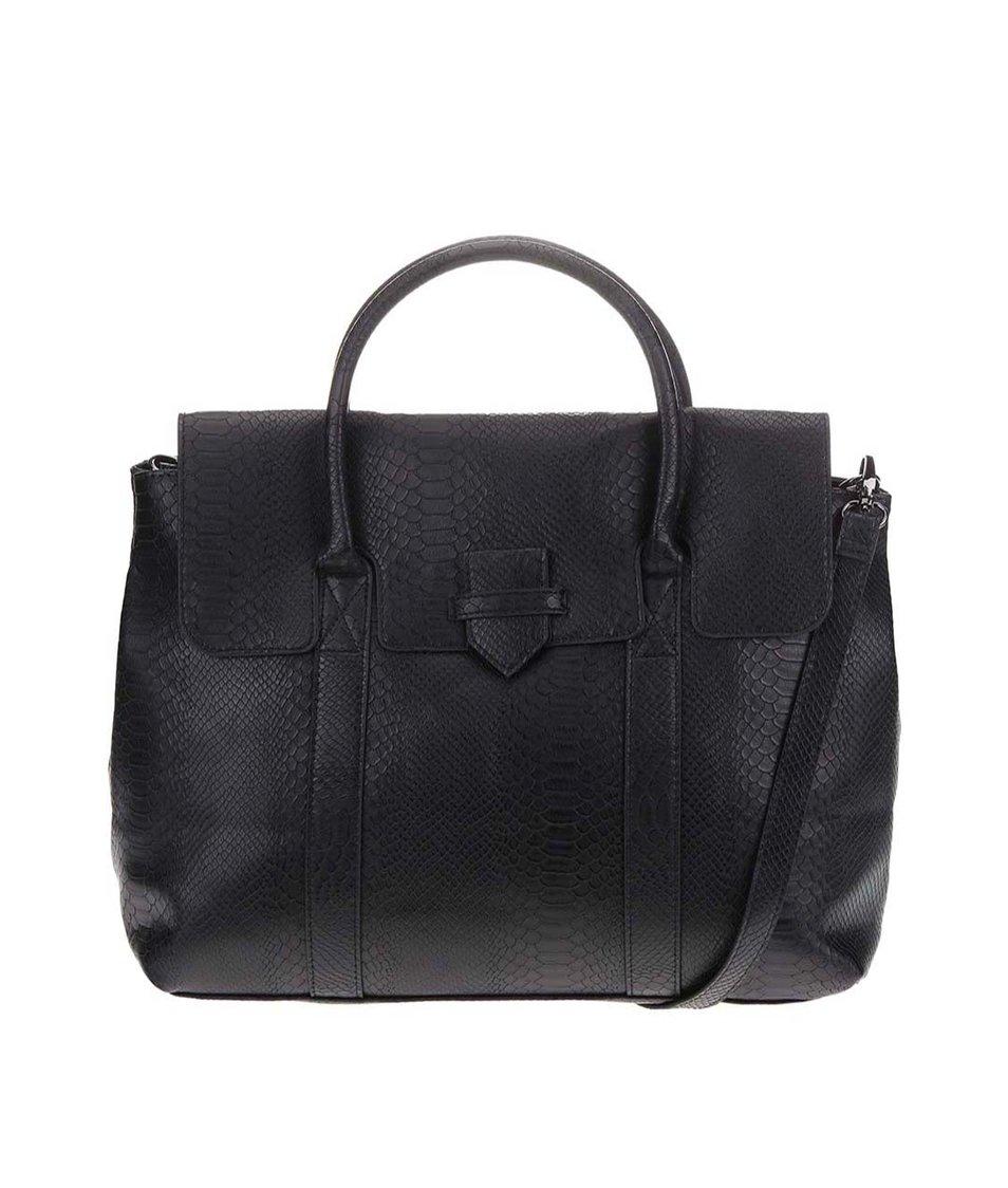 Černá kabelka Pieces Velvet