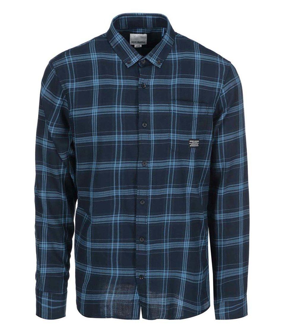 Modrá kostkovaná košile Shine Original
