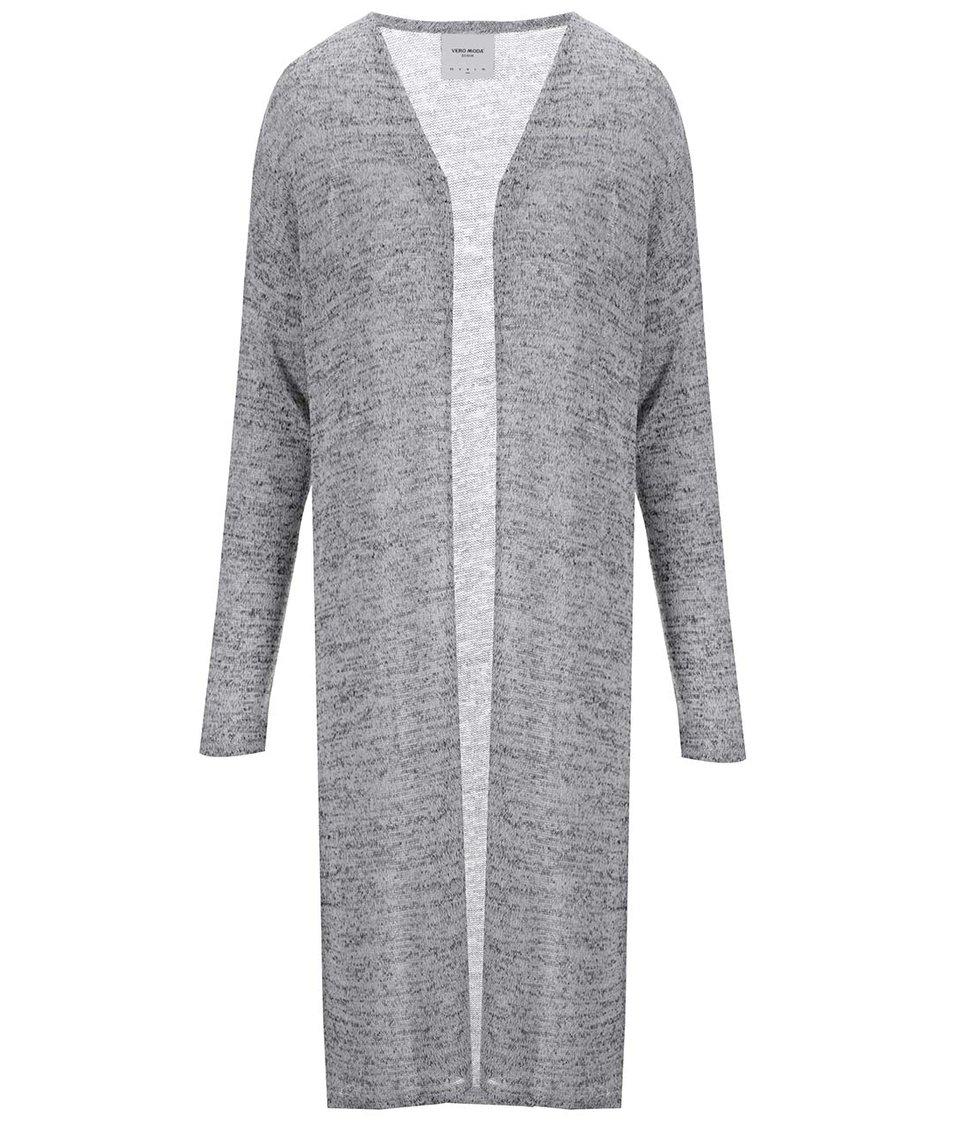 Světle šedý dlouhý cardigan Vero Moda Jennie