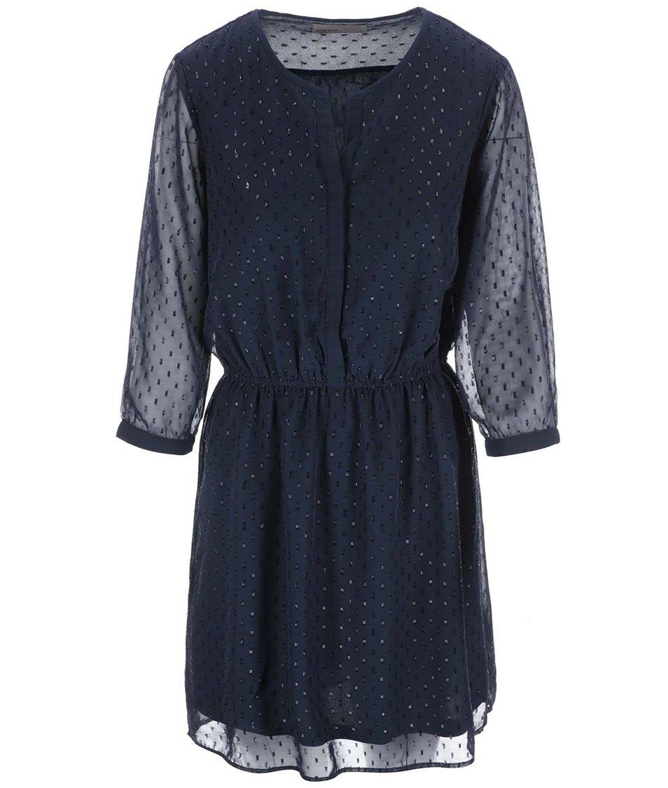 Tmavě modré šaty s třpytivou aplikací Vero Moda Hitta