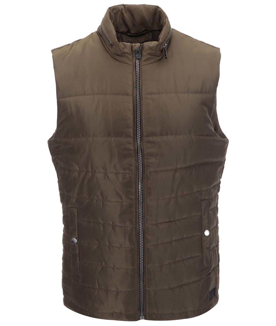 Hnědá prošívaná vesta ONLY & SONS Sage Gilet