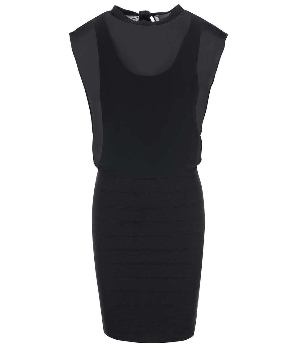 Černé šaty Vero Moda Mixi