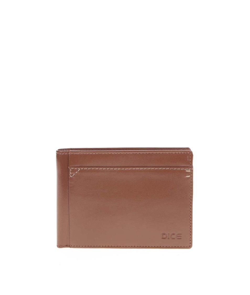 Světle hnědá kožená peněženka Dice Bell