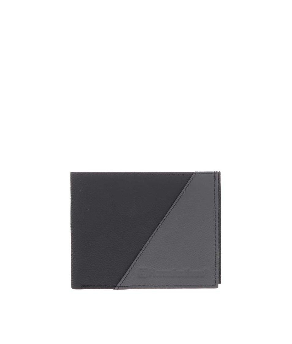 Šedo-černá pánská kožená peněženka Horsefeathers Jeff