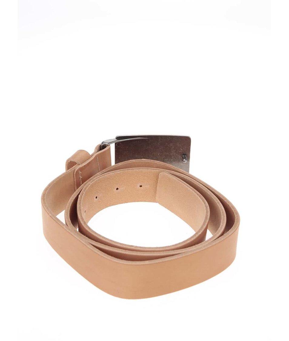 Béžový pánský kožený pásek Horsefeathers Vince
