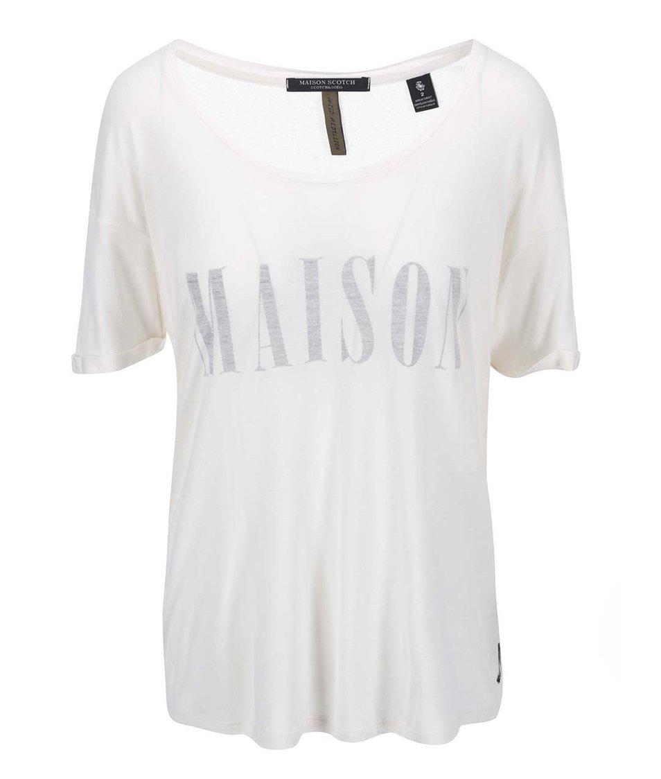 Krémové tričko Maison Scotch
