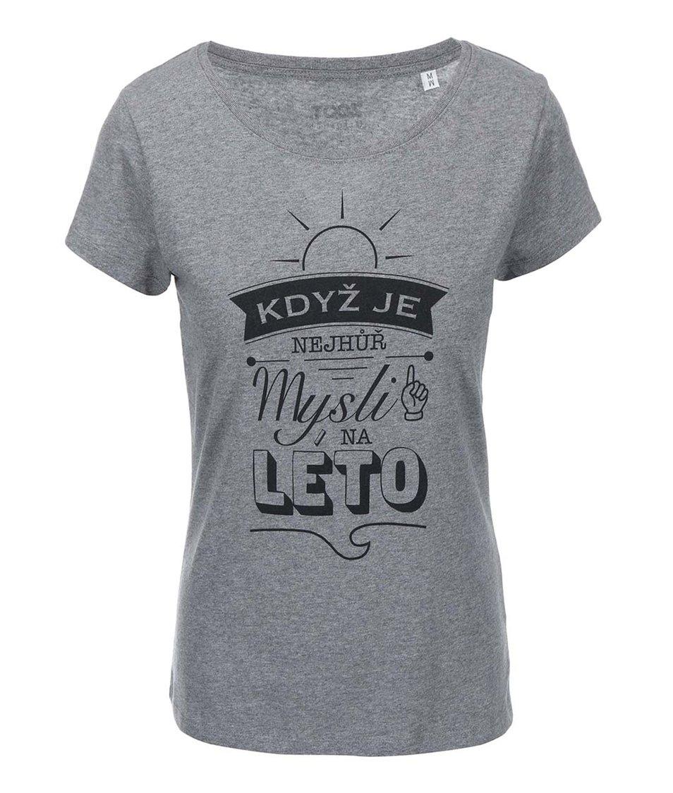 Šedé dámské tričko ZOOT Originál Když je nejhůř