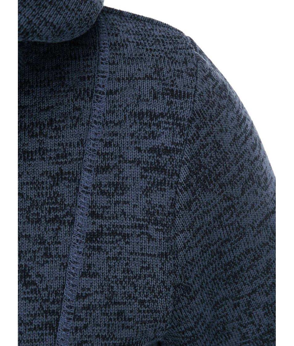 Tmavě modrá žíhaná mikina s vyšším límcem Roxy Dipsy