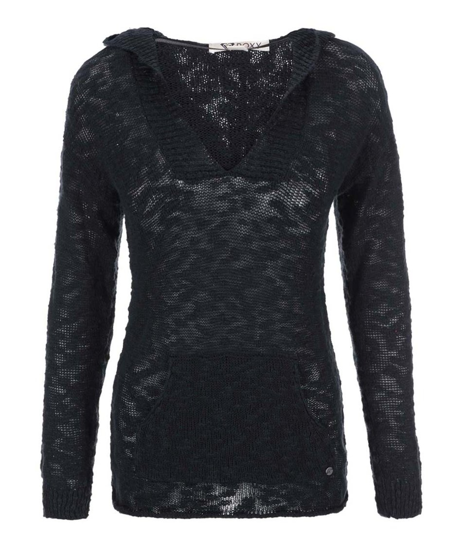 Černý svetr s kapucí Roxy Warm Heart