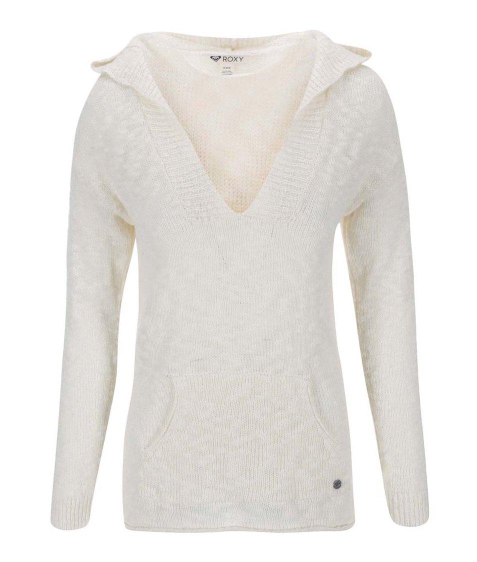 Krémový svetr s kapucí Roxy Warm Heart