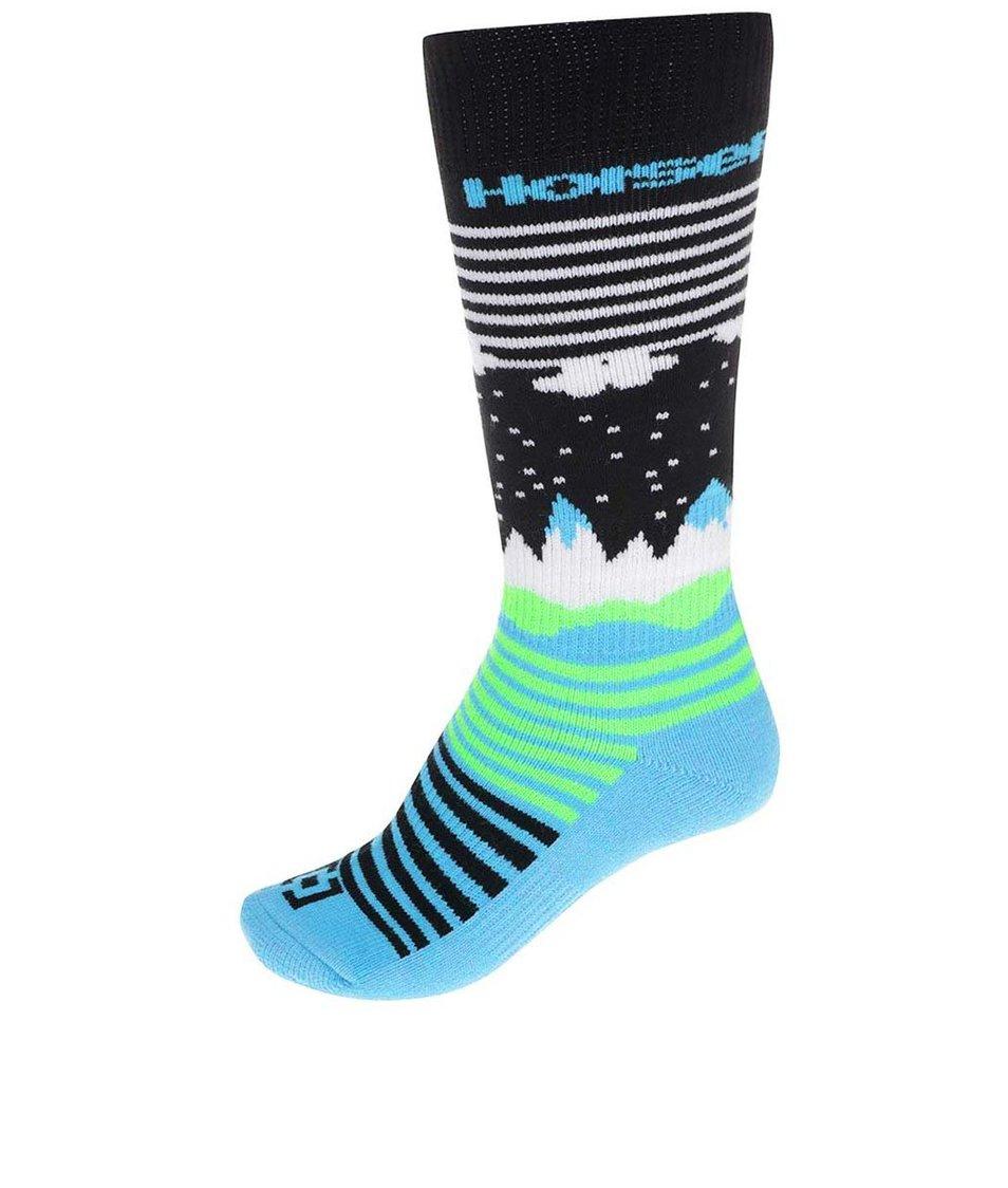 Modro-černé dámské ponožky Horsefeathers Epic