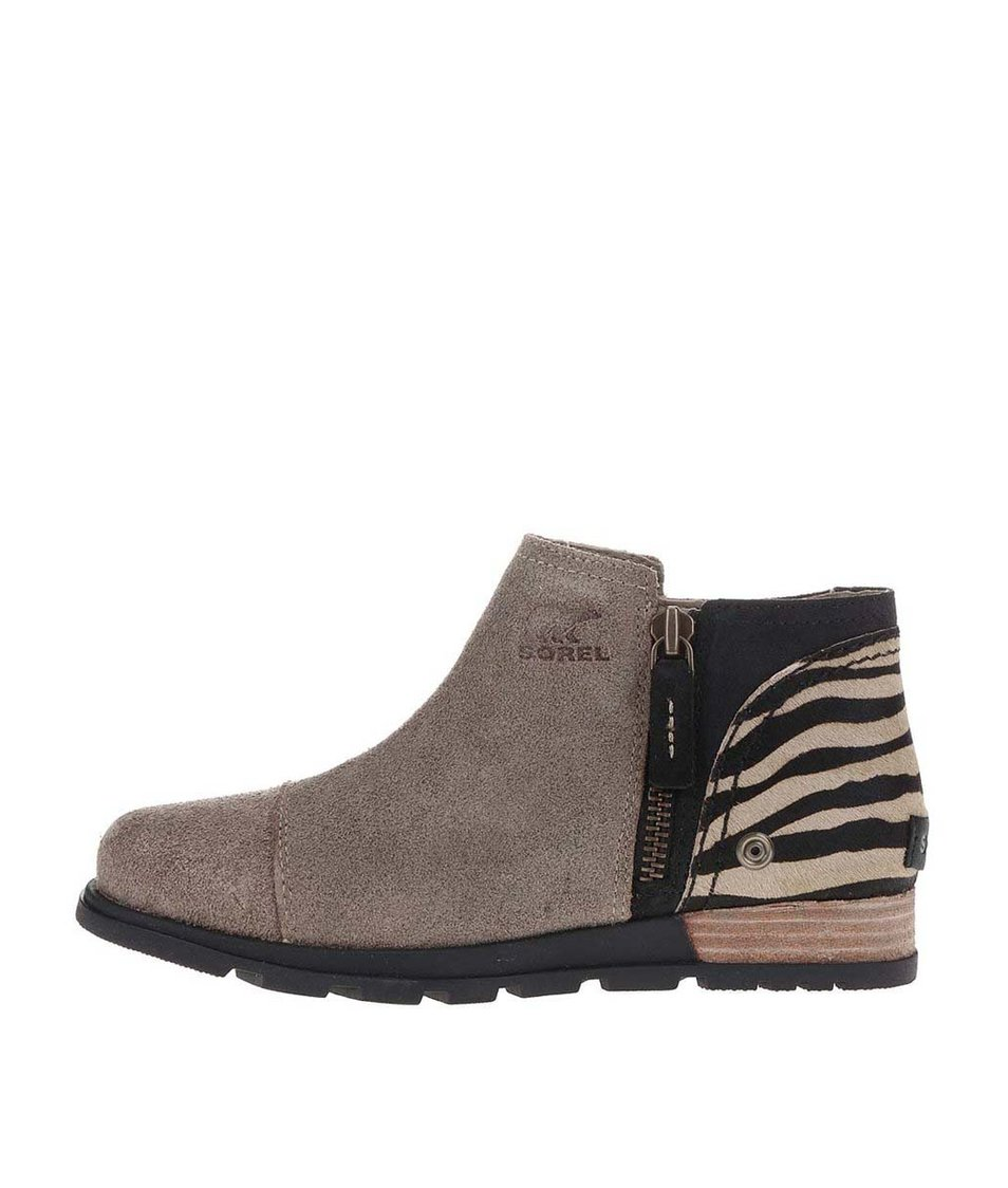 Hnědé dámské kožené kotníkové boty SOREL Major Low Premium