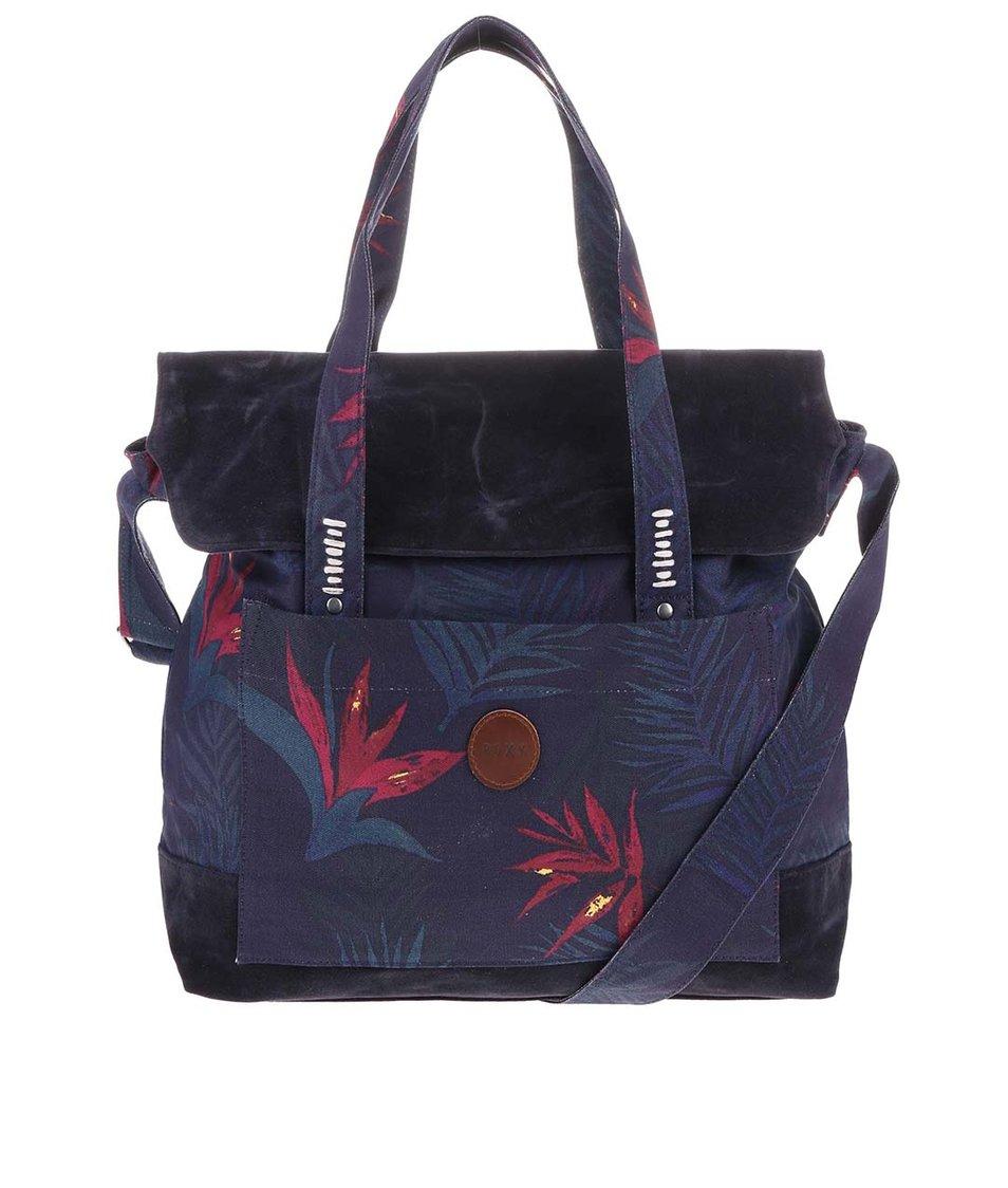 Tmavě modrá kabelka s potiskem Roxy Auxiliary