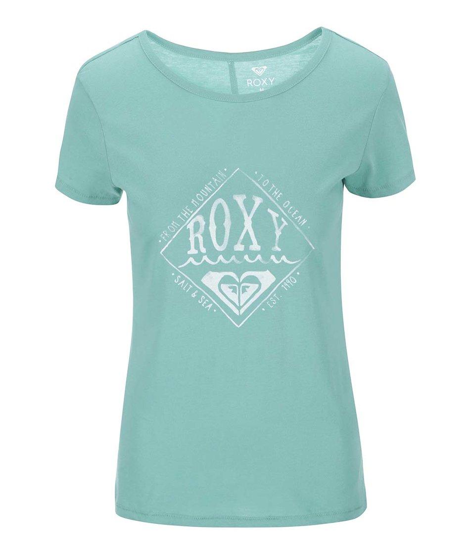 Mentolové tričko s potiskem Roxy Basic