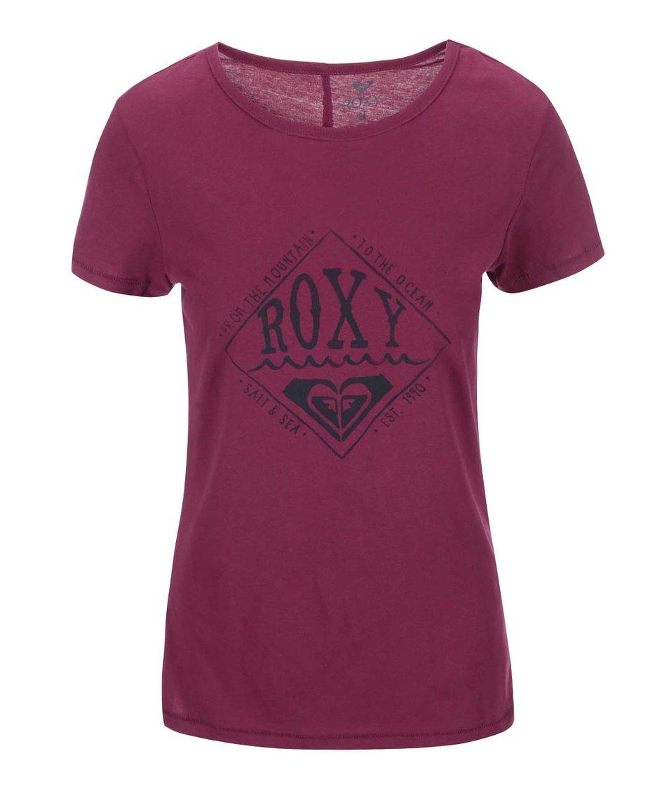 Vínové tričko s potiskem Roxy Basic