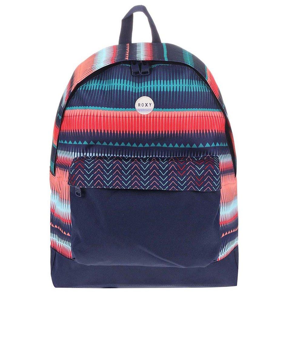Modrý batoh s barevnými vzory Roxy Be Young