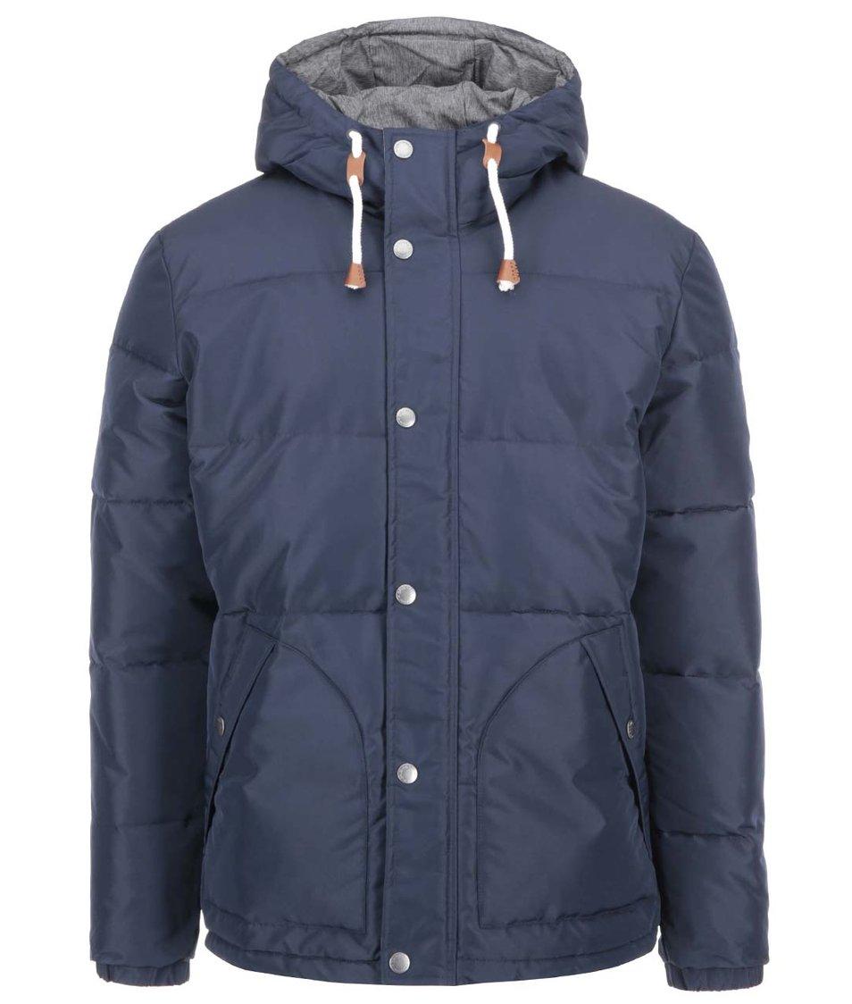 Tmavě modrá bunda s kapucí Jack & Jones Plum Puffer