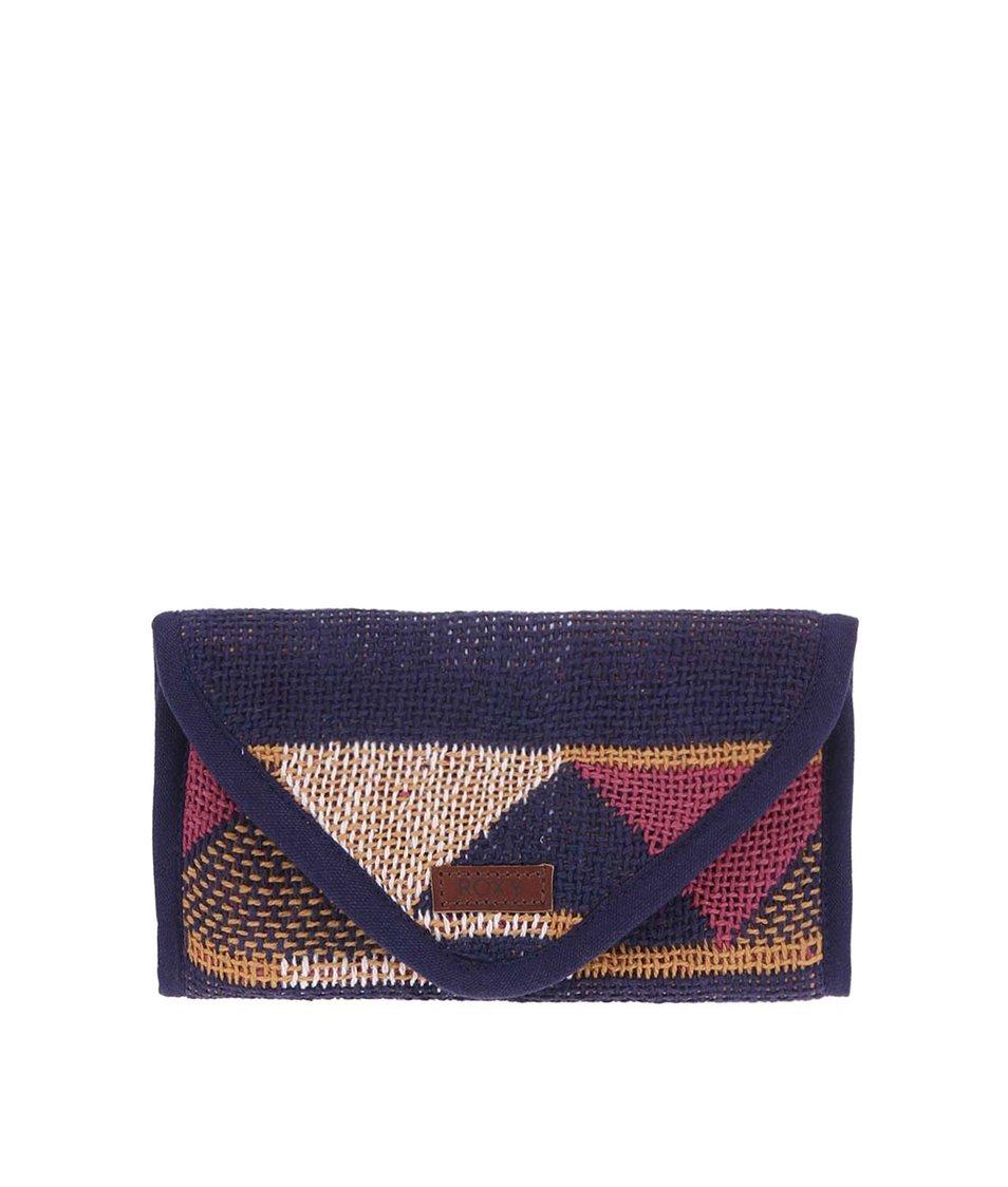 Tmavě modrá peněženka s barevným vzorem Roxy Tighter Hold