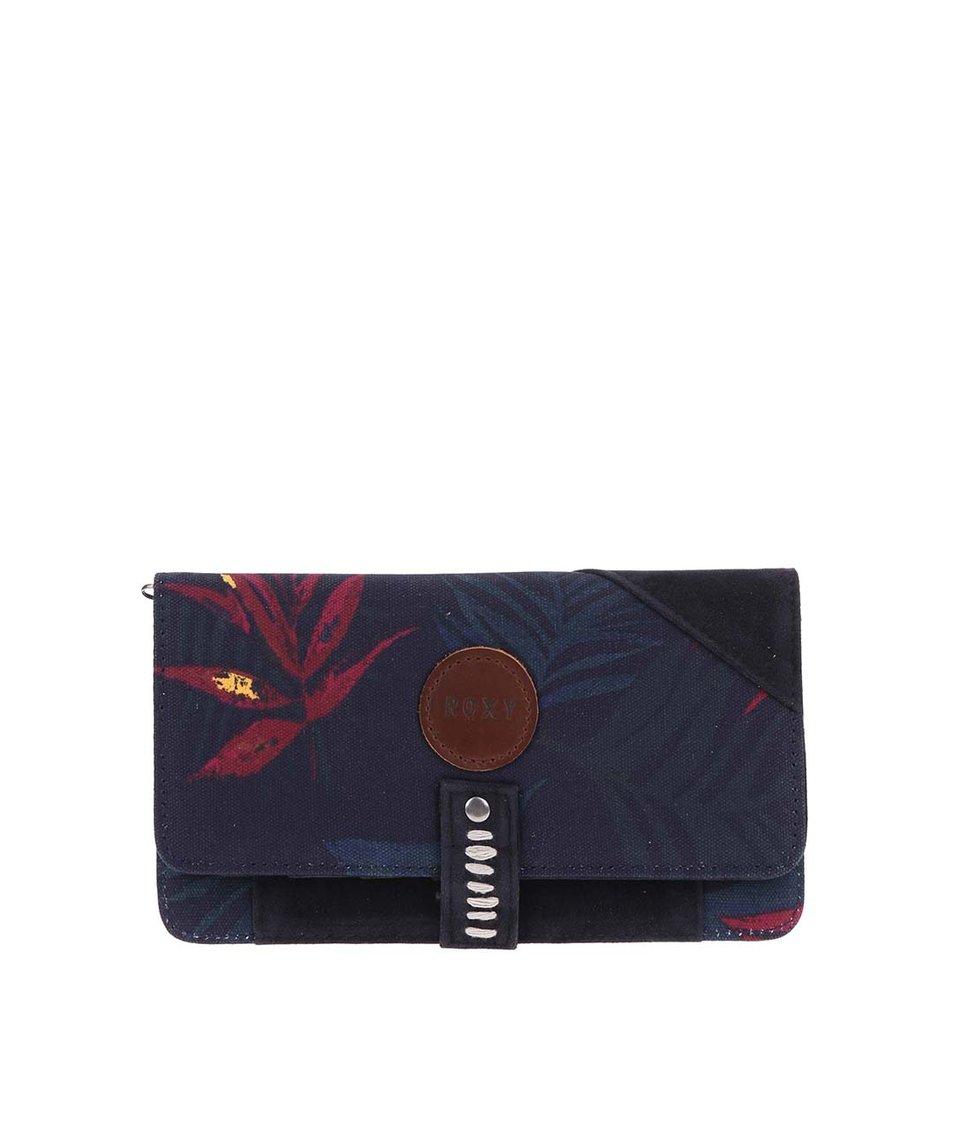 Tmavě modrá peněženka s potiskem listů Roxy Beach Grounded