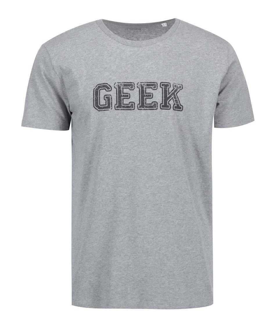 Šedé pánské triko ZOOT Originál Geek
